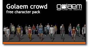 golaem crowd free character pack
